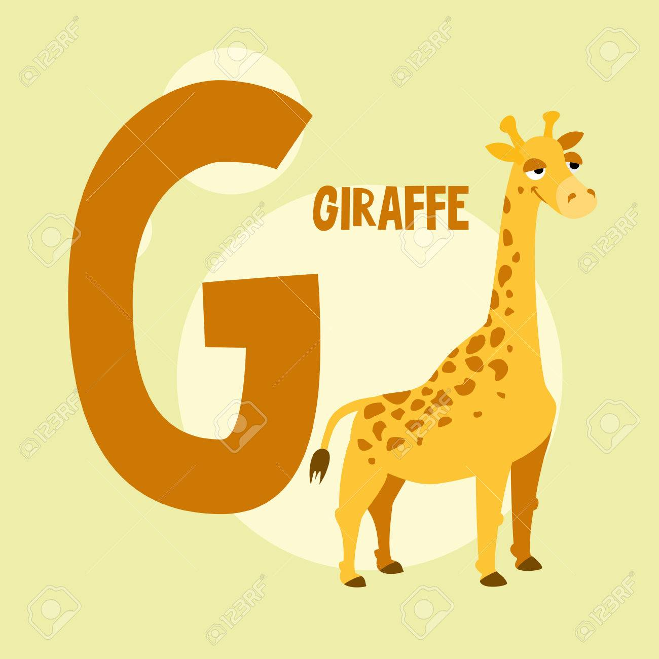 Funny orange giraffe on the background of the letter g royalty free funny orange giraffe on the background of the letter g stock vector 64091387 spiritdancerdesigns Gallery