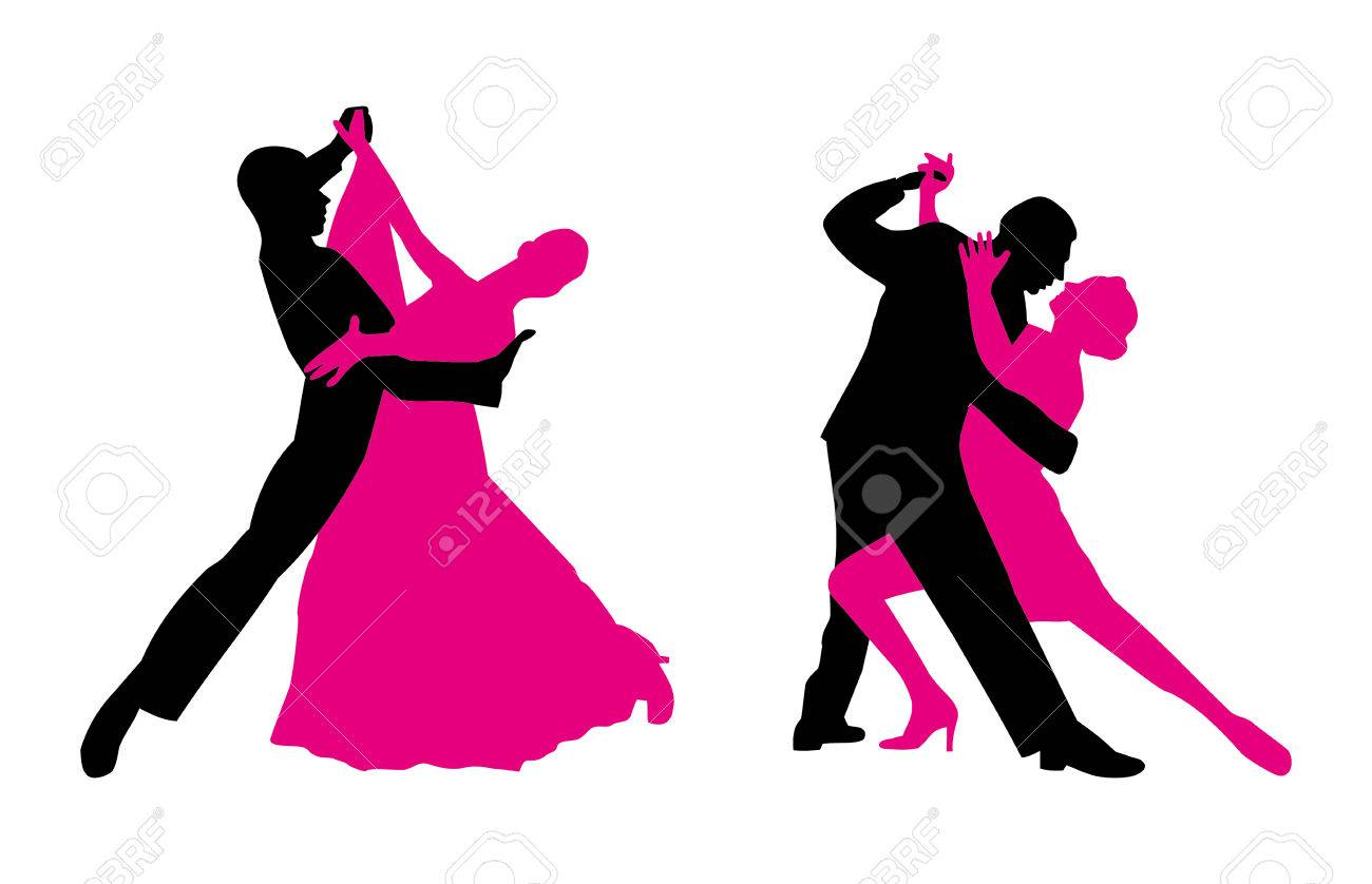 couples are dancing vector clip art magenta and black royalty free rh 123rf com dancing vector silhouettes dance vector