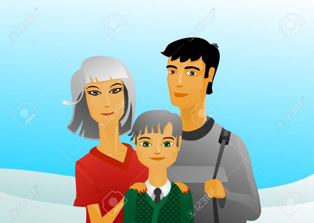happy family Stock Vector - 10268057