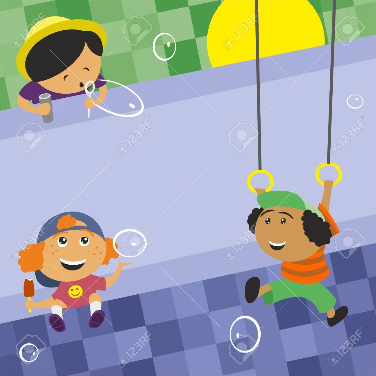 children play Stock Vector - 10799813