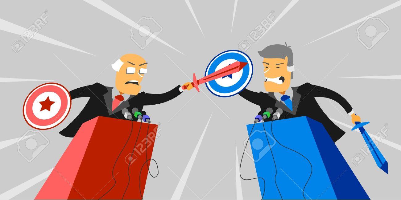 Political debate Stock Vector - 18507421
