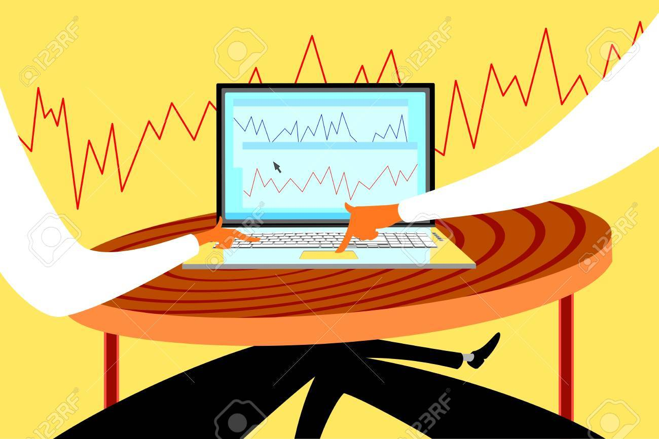 User and laptop Stock Vector - 18616717