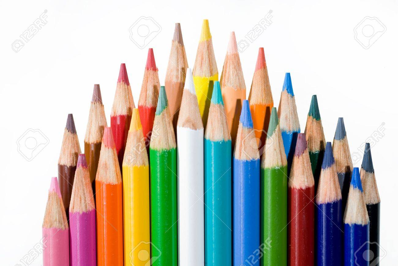 Set of colored pencils are good for art and architect sketching stock photo 1951786