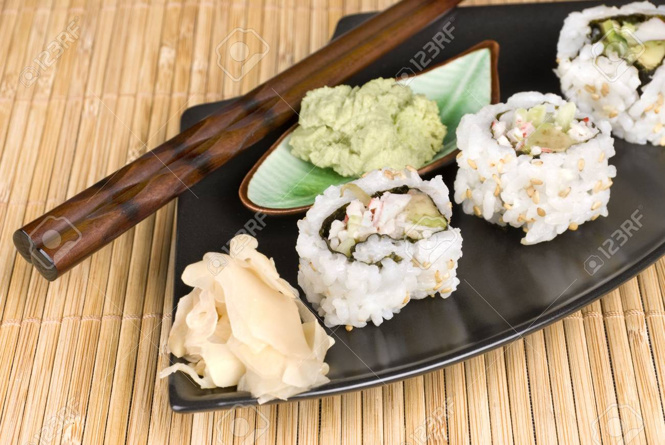 Wasabi Sauce For Fish Rolls With Wasabi Sauce