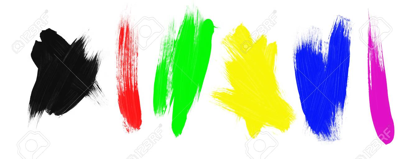 An assortment of paint brush strokes. Stock Photo - 6450561