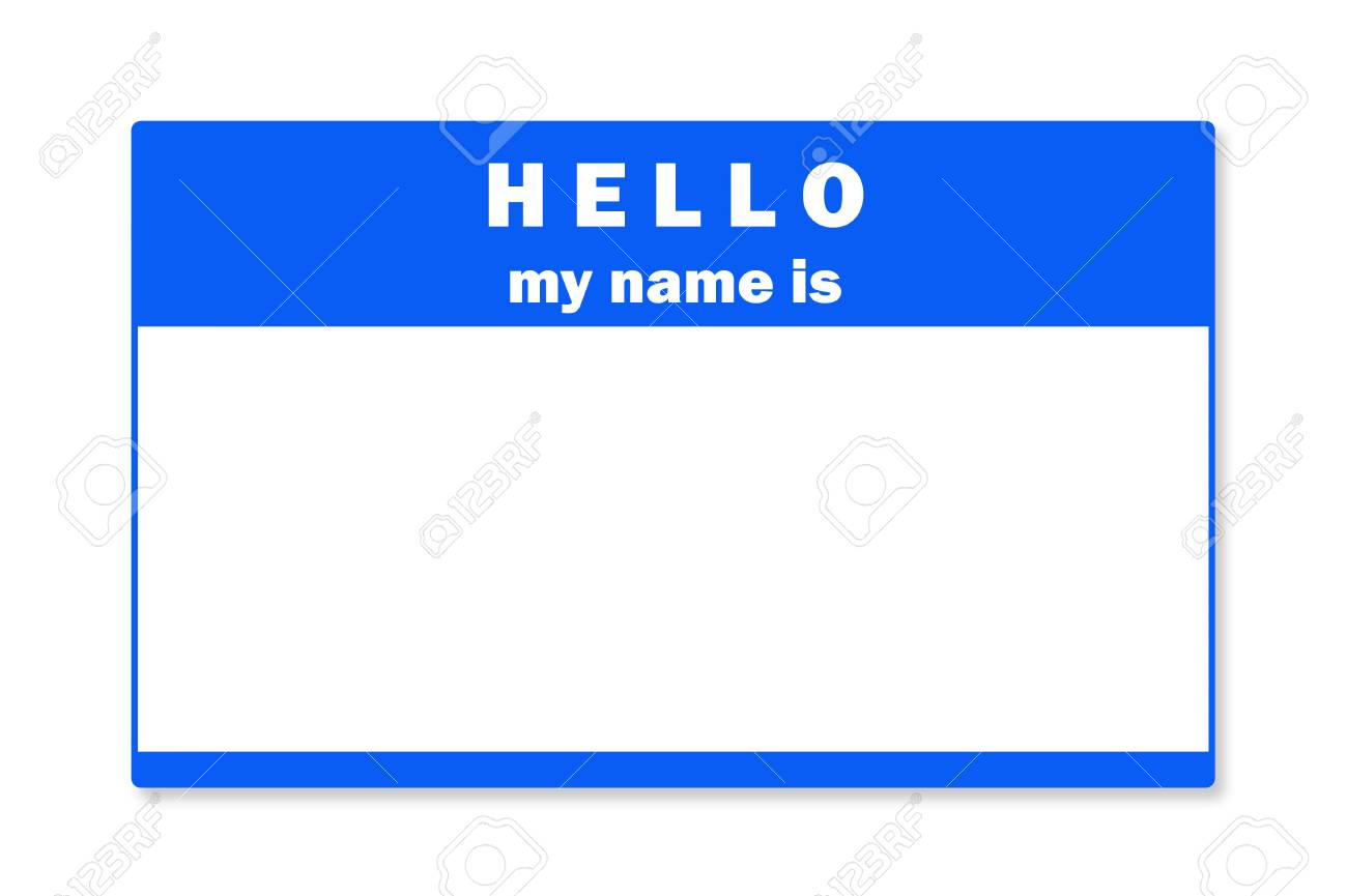 A blank name tag Stock Photo - 6901269