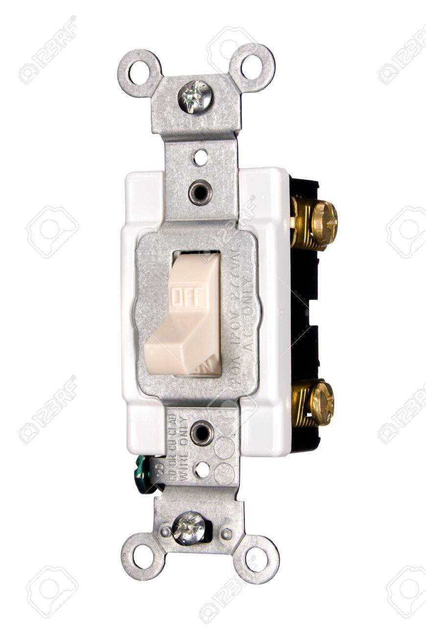 A new 110 volt electrical power light switch isolated on white a new 110 volt electrical power light switch isolated on white stock photo 7147073 publicscrutiny Gallery