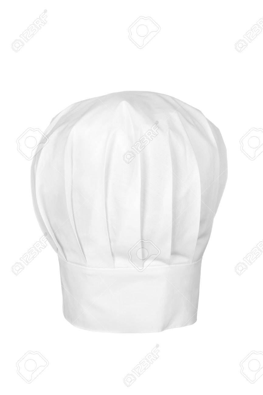 A Checs Hat Isolated On White Chefs Wear The Hat As A Symbol