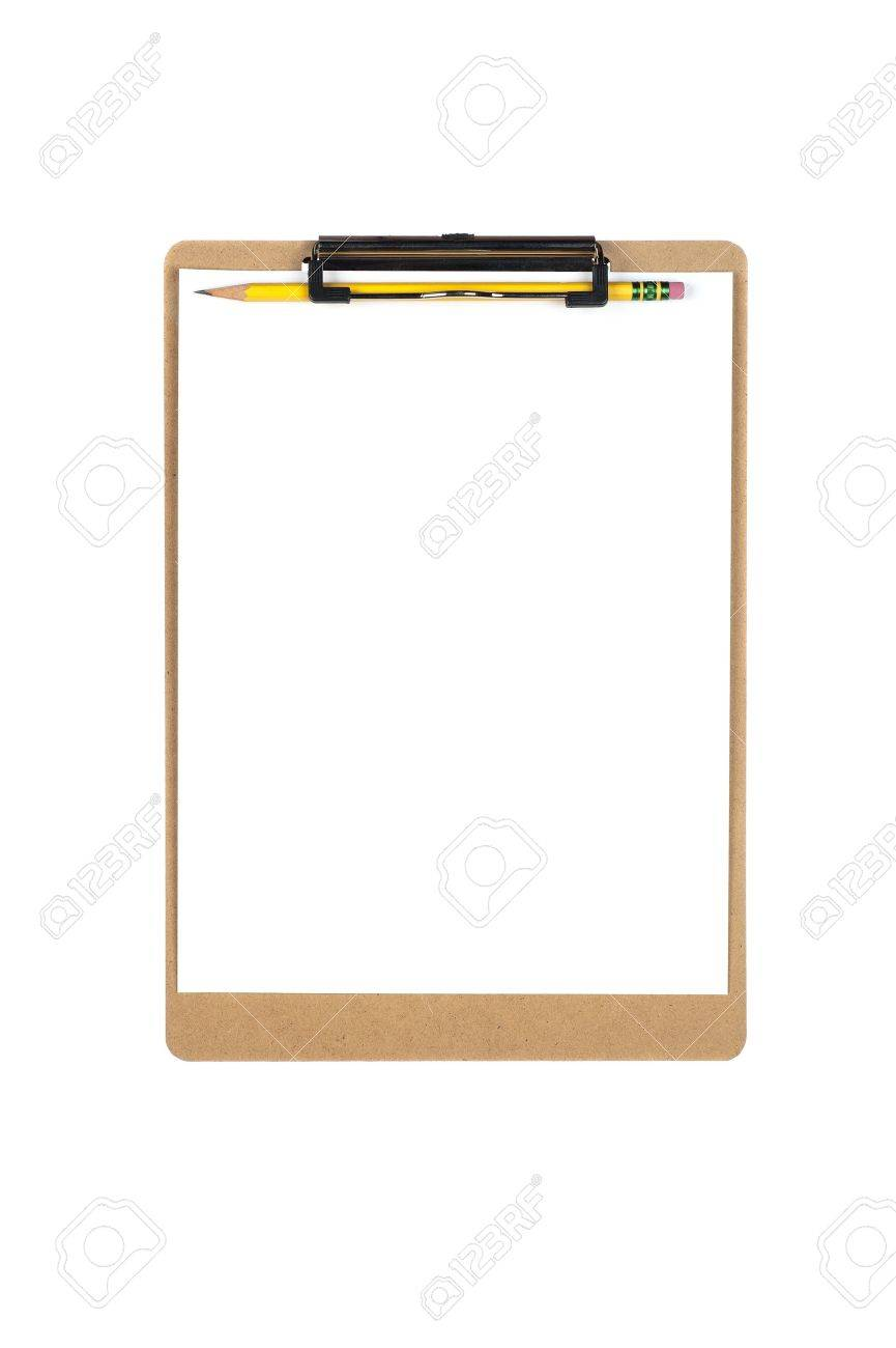 a new clipboard with a blank sheet of paper for copy placement