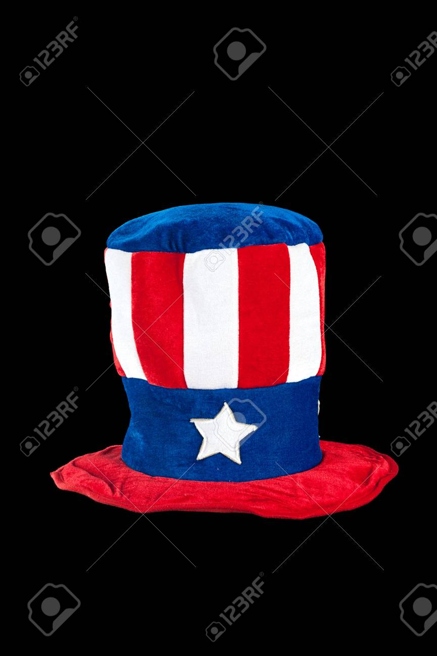 A patriotic fourth of July hat on a white background.  Can be used for Labor Day and Memorial Day as well. Stock Photo - 13411846