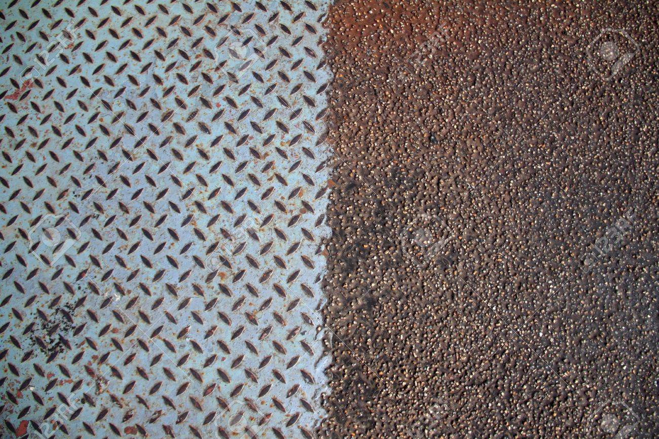 rusty metal mix with  rubber mat abstract background texture Stock Photo - 10540431