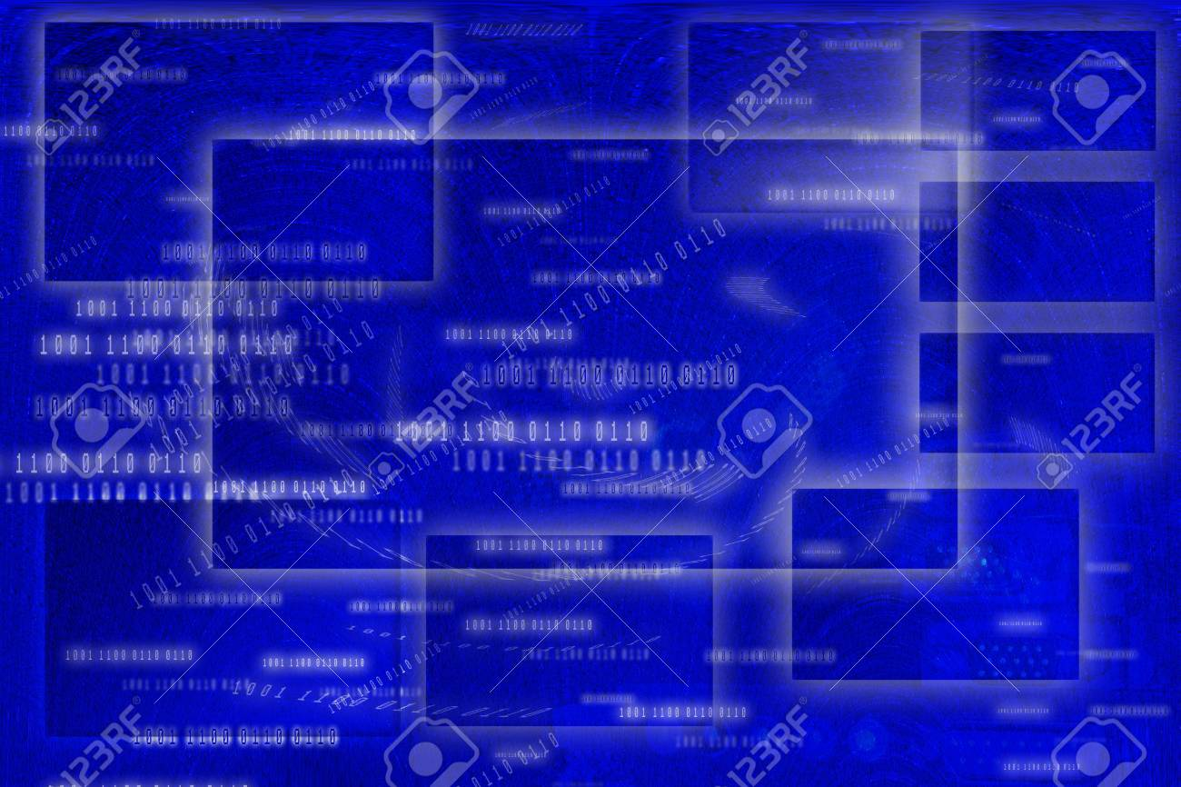 Imágenes Abstractas En Azul De Fondo De Fotogramas, Botones ...