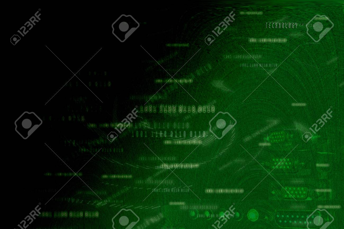 Abstract Green Background , Digital concept Stock Photo - 13784622