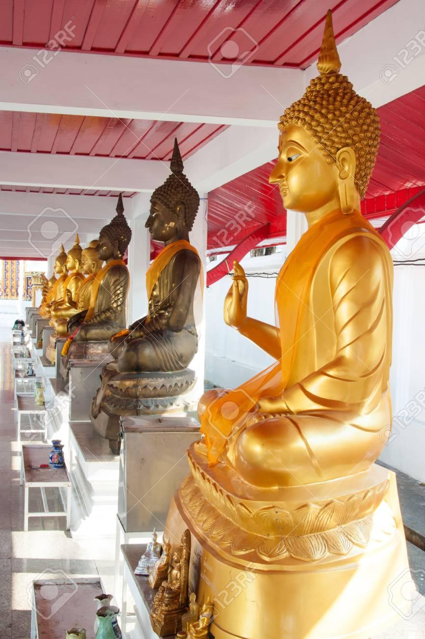 Buddha image in Thailand. Stock Photo - 18007385