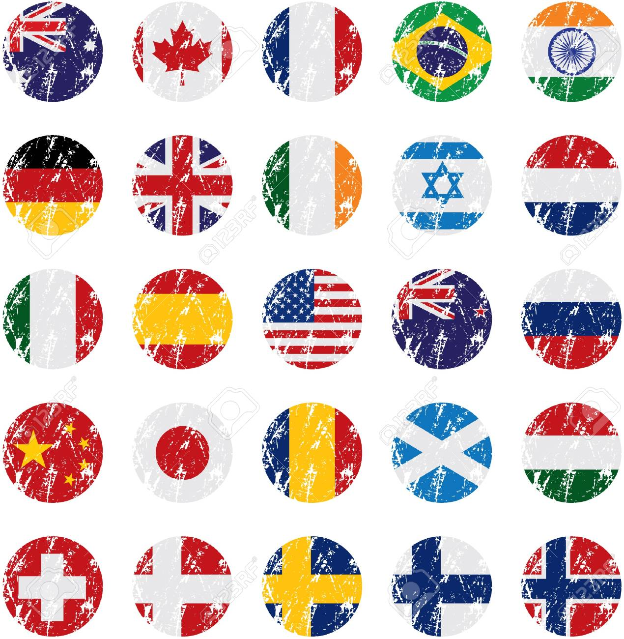 Country Icons Stock Vector - 12157836