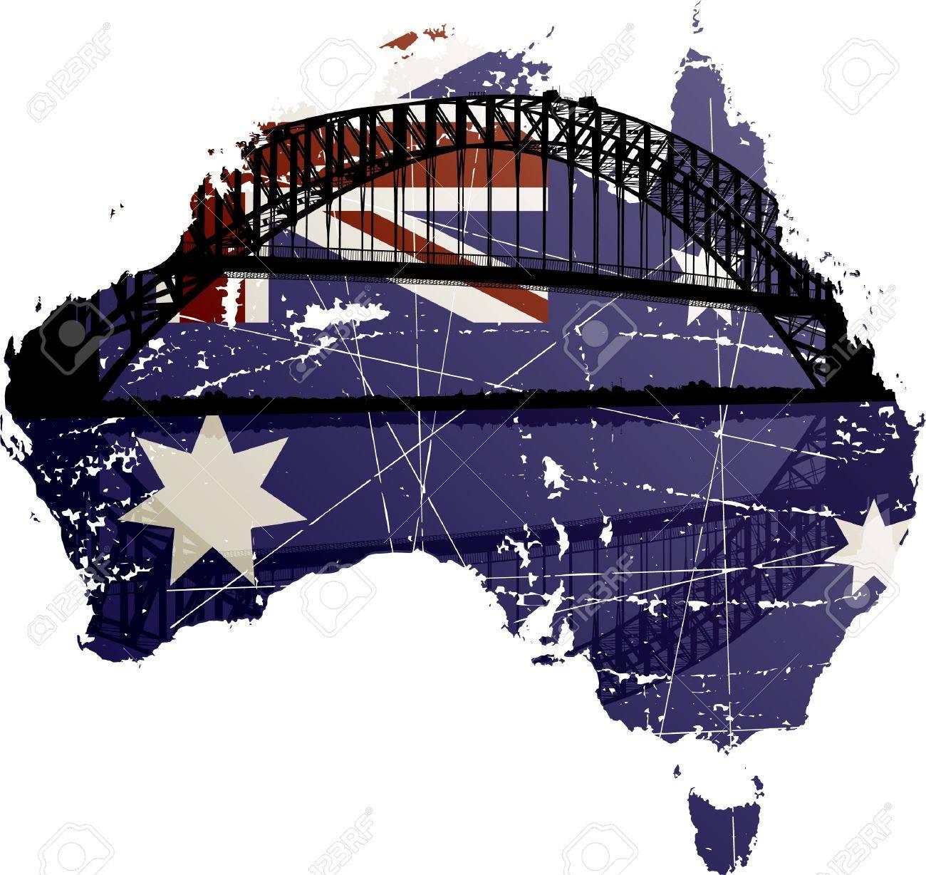 Australia Sydney Harbour Bridge Stock Vector - 12474786