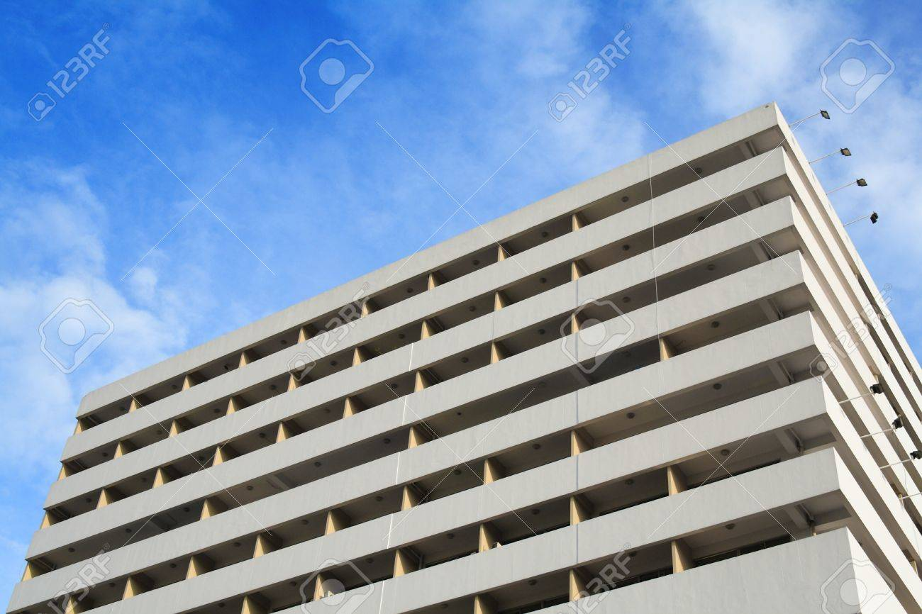 Office building with blue sky Stock Photo - 11785351