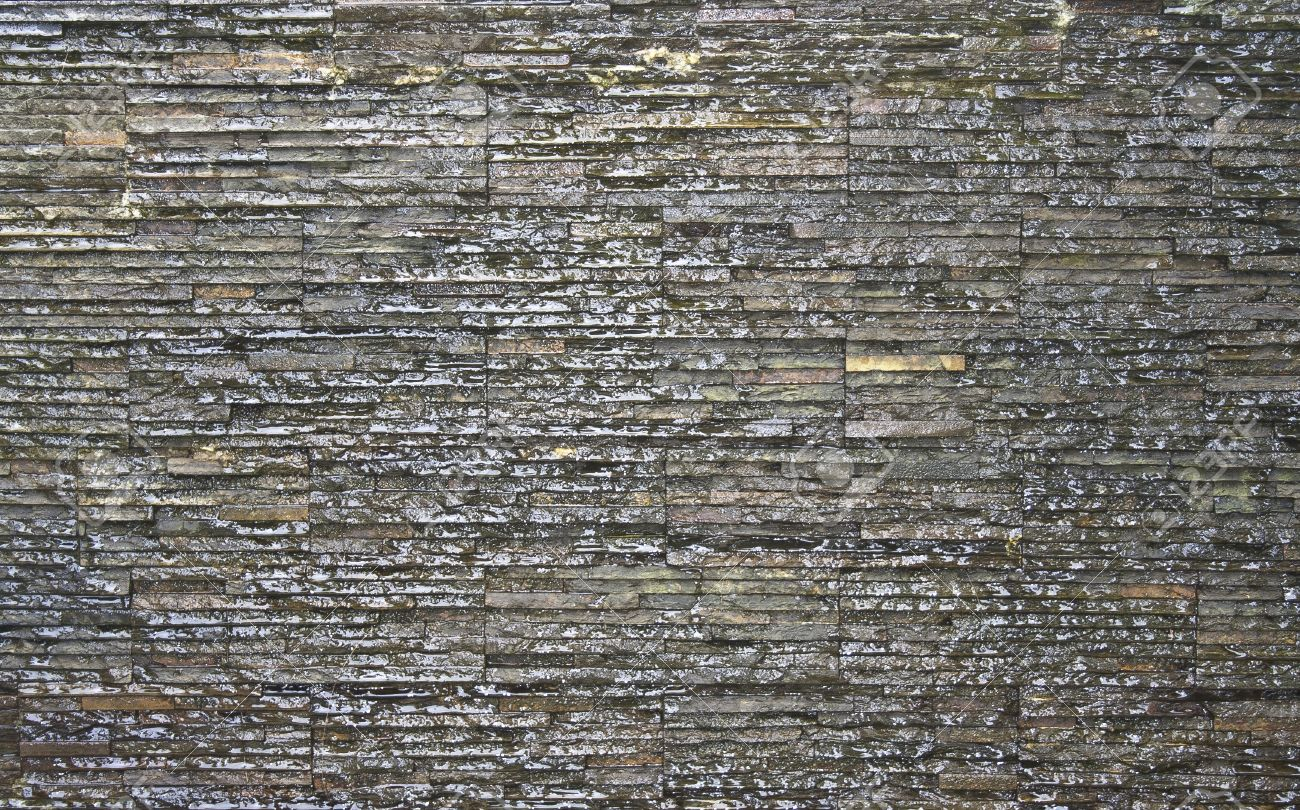 Modern Wall Texture The Modern Wall With Water Fall For Background And Texture Stock
