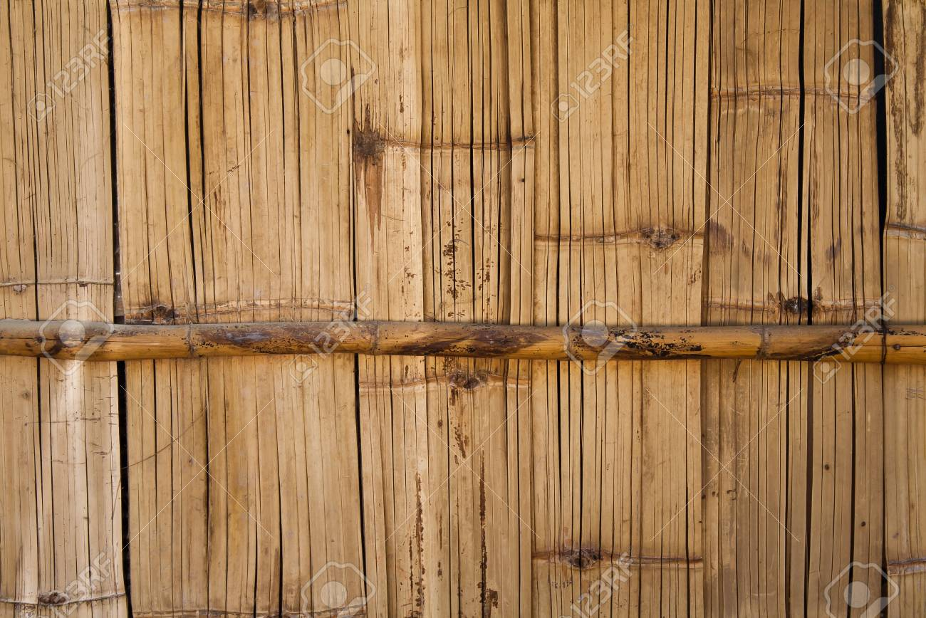 The vintage wall make from bamboo in Thailand Stock Photo - 12152378
