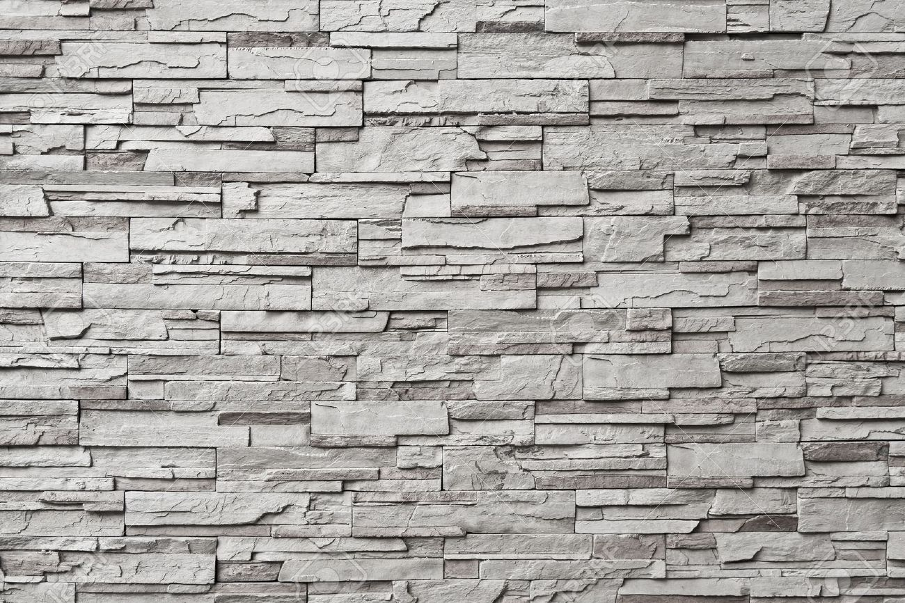 The gray modern stone wall Stock Photo - 12893737