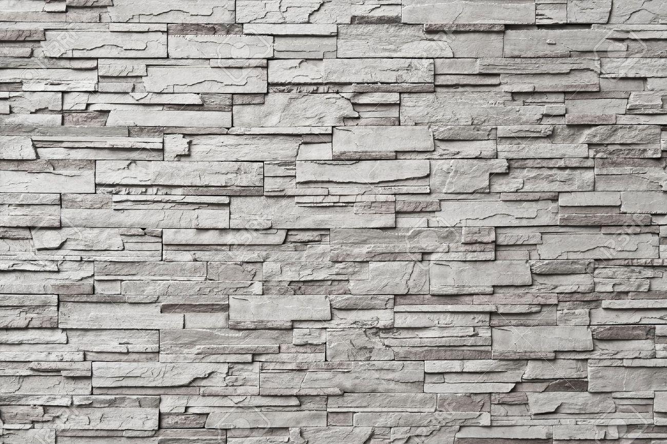 Interior Stone Wall Texture The gray modern stone wall