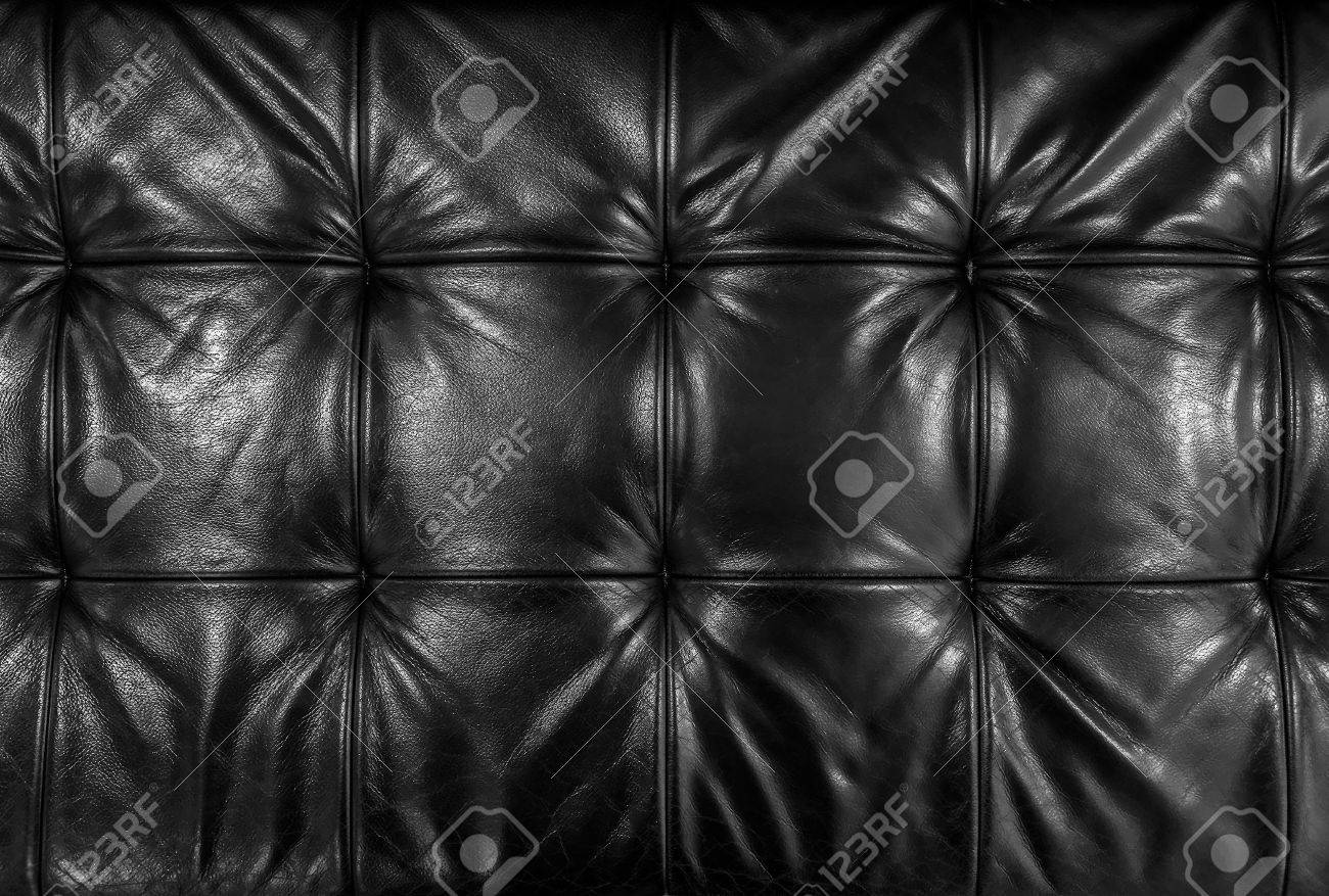 Leather cushion texture - Black Leather Cushion Stock Photo 18174030
