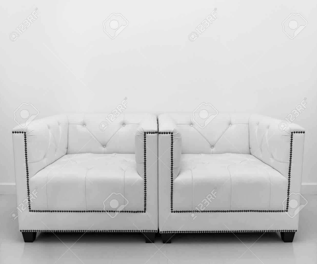 Geräumig Ledersofa Weiß Sammlung Von Weiß Standard-bild - 20457527