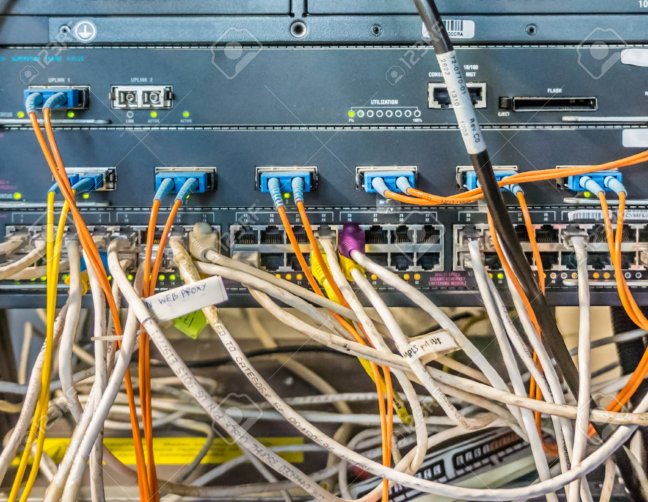 Surprising Messy Cables And Wires Unorganized Cabling In Server Room Stock Wiring 101 Mecadwellnesstrialsorg