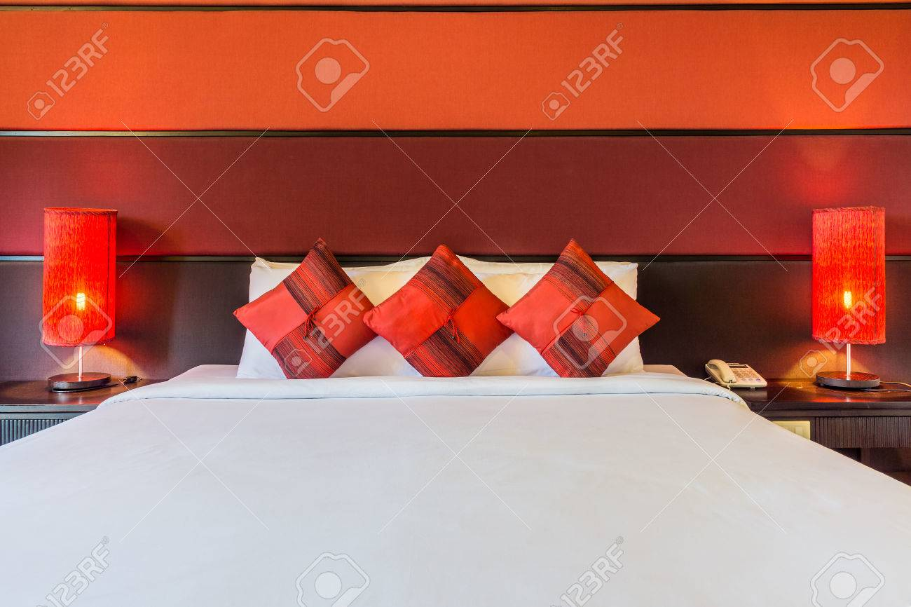 Dreamy Master Bedroom With King Size Bed The Modern Design Of Stock Photo Picture And Royalty Free Image Image 83186190