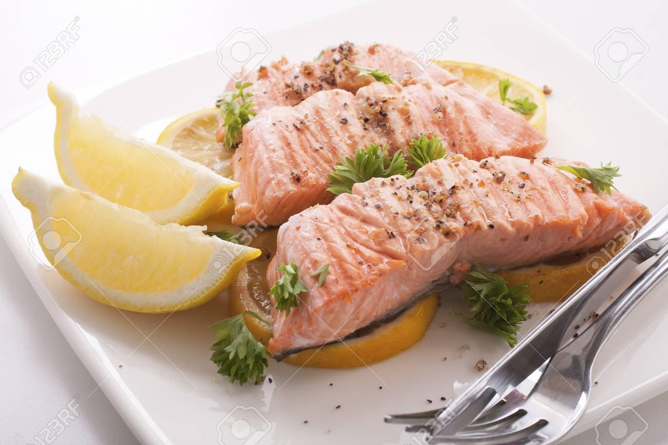 レモン バター 鮭