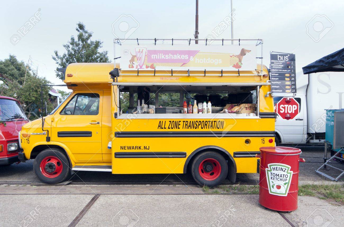25 of the best food truck designs design galleries paste - Food Truck Amsterdam Netherlands July 31 2015 American School Bus In