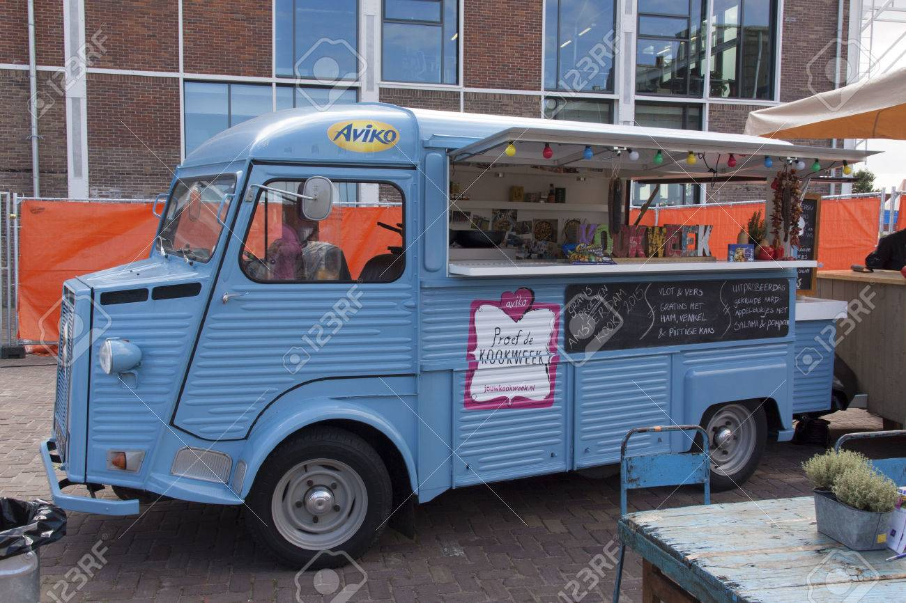 Amsterdam Netherlands July 31 2015 Citroen HY Food Truck At A Festival