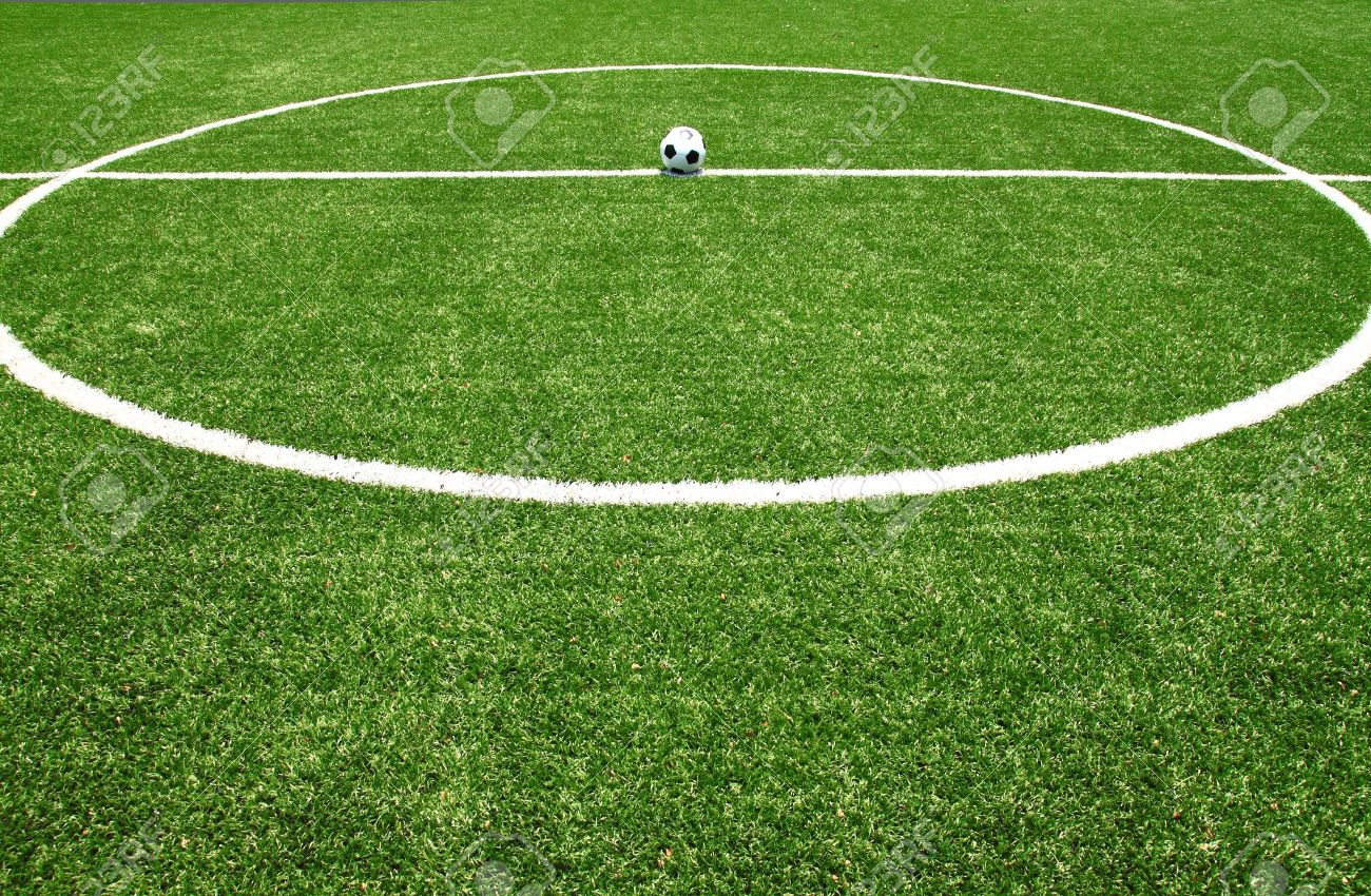 soccer field grass Stock Photo - 13779624