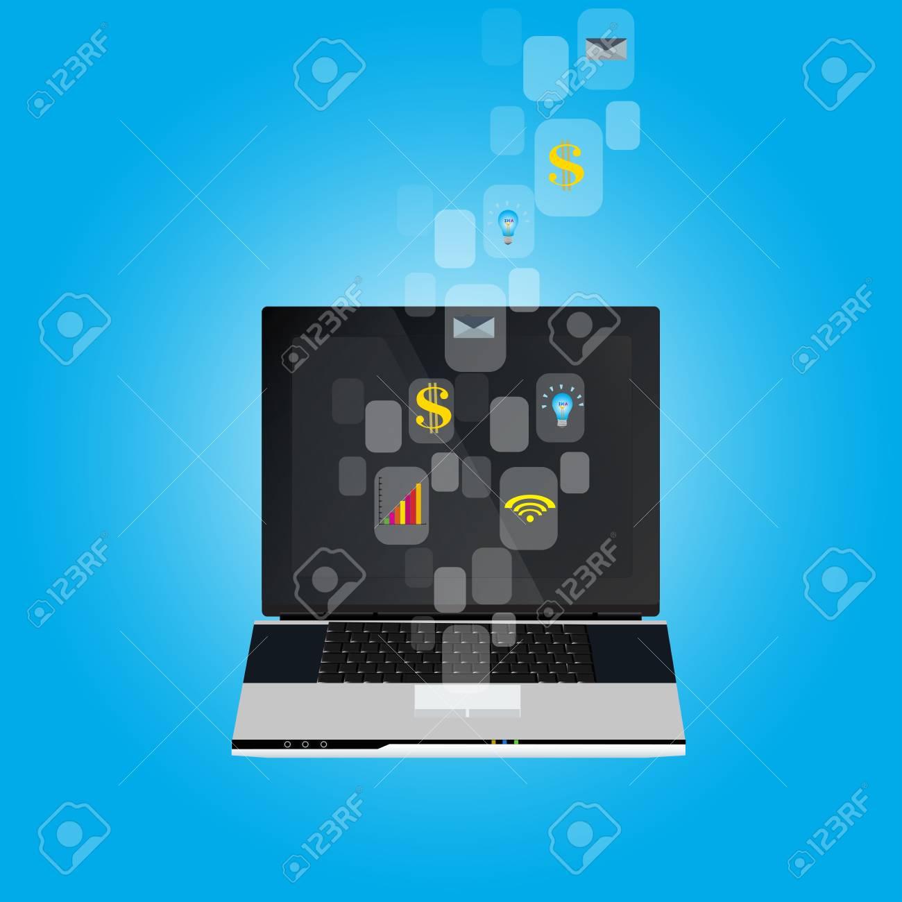 business , e-commerce concept illustration Stock Vector - 17455351