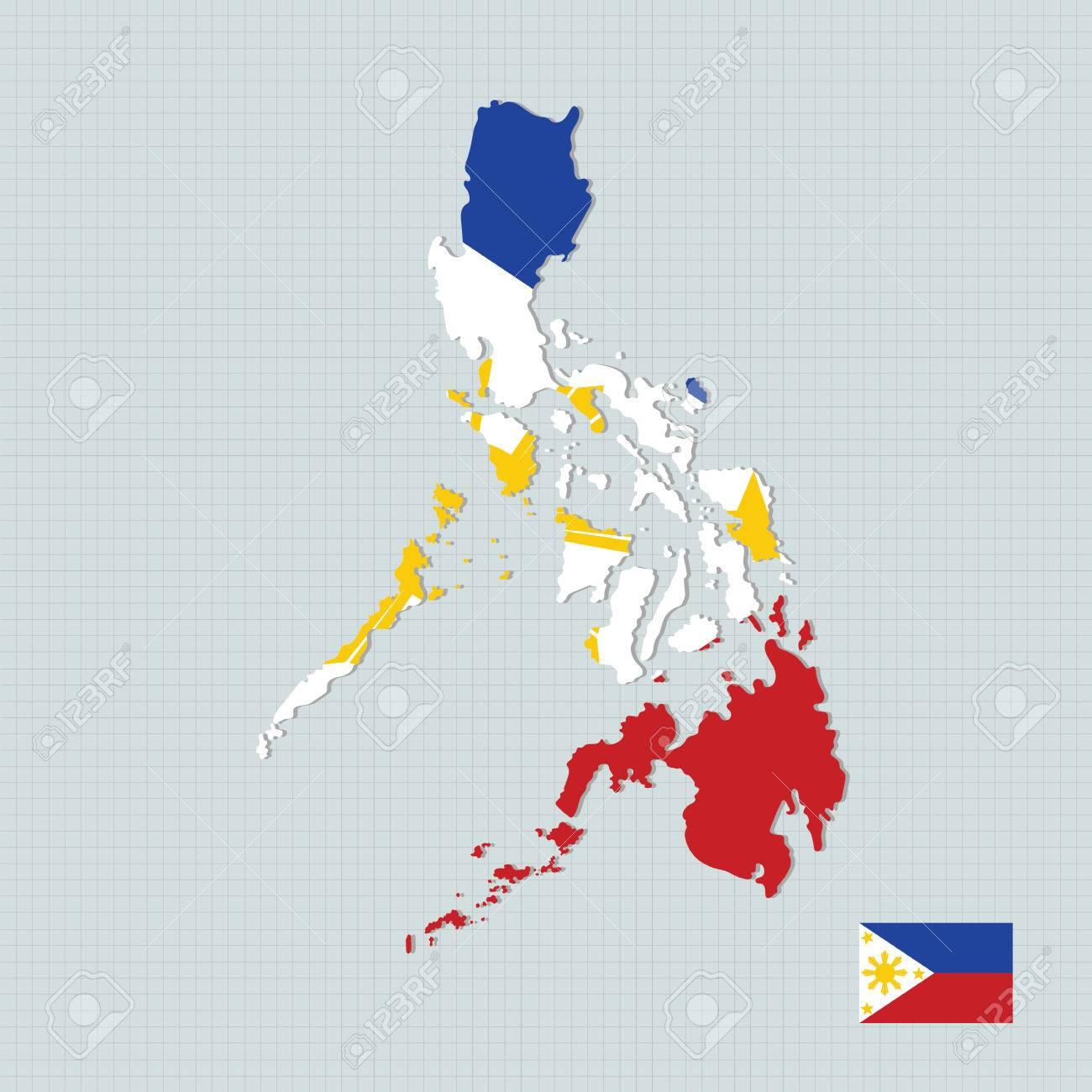 Philippines map,flag