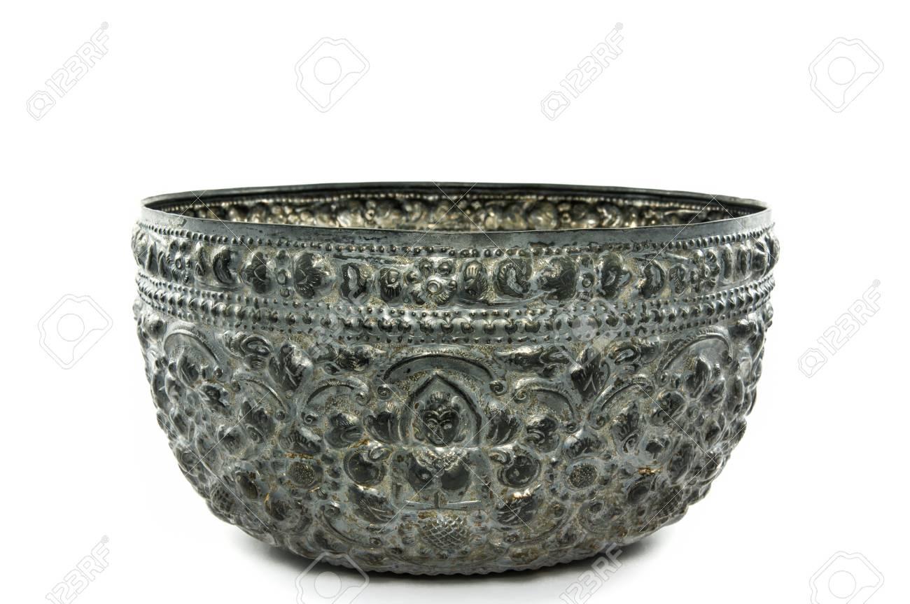 silver antique bowl Stock Photo - 22965720