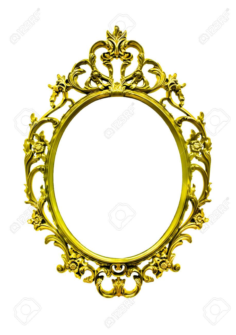 super gold frame antique style Stock Photo - 23344612