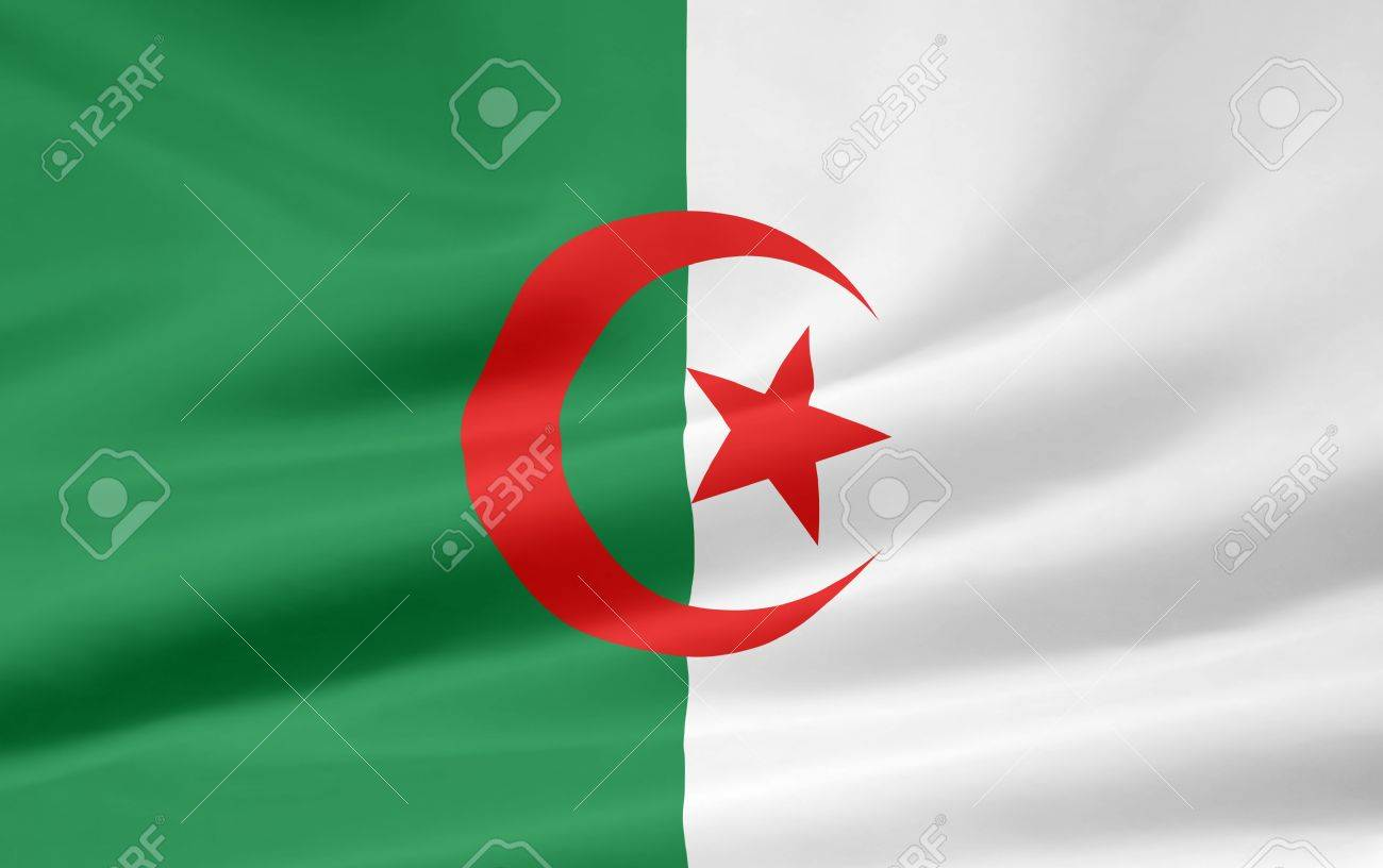 Flag of Algeria Stock Photo - 6640706