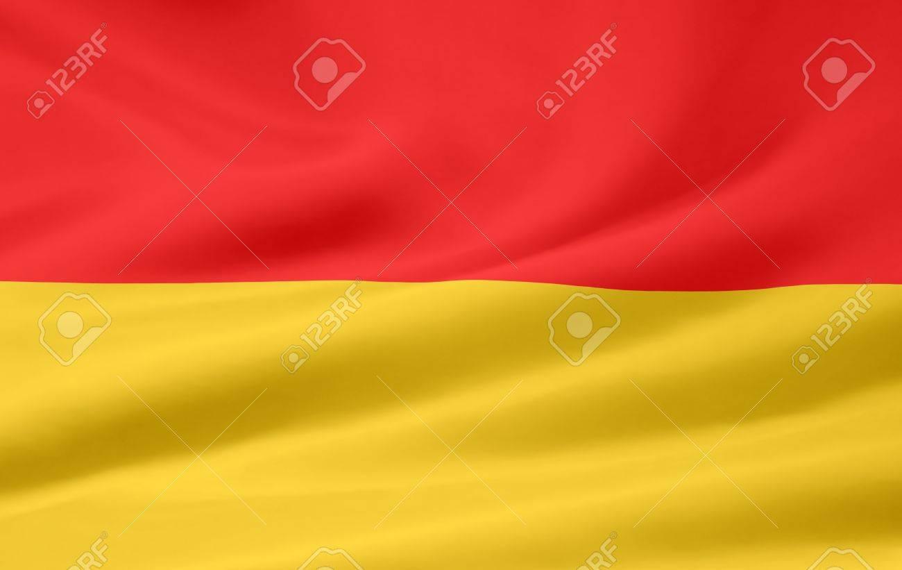 Flag of Burgenland - Austria Stock Photo - 9782696