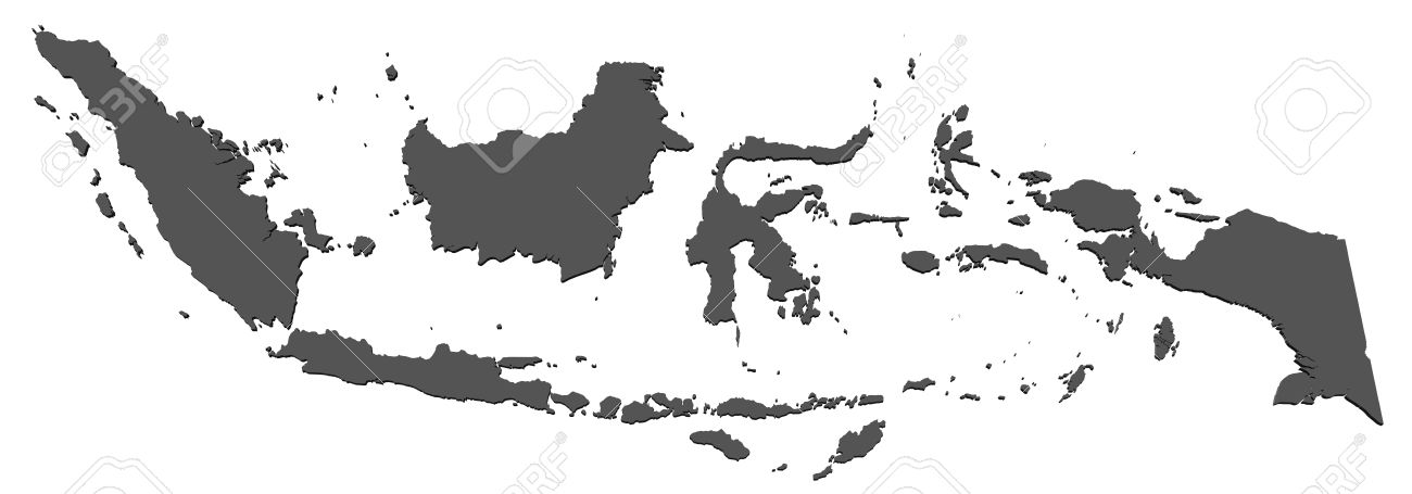 Map Of Indonesia Stock Photo Picture And Royalty Free Image