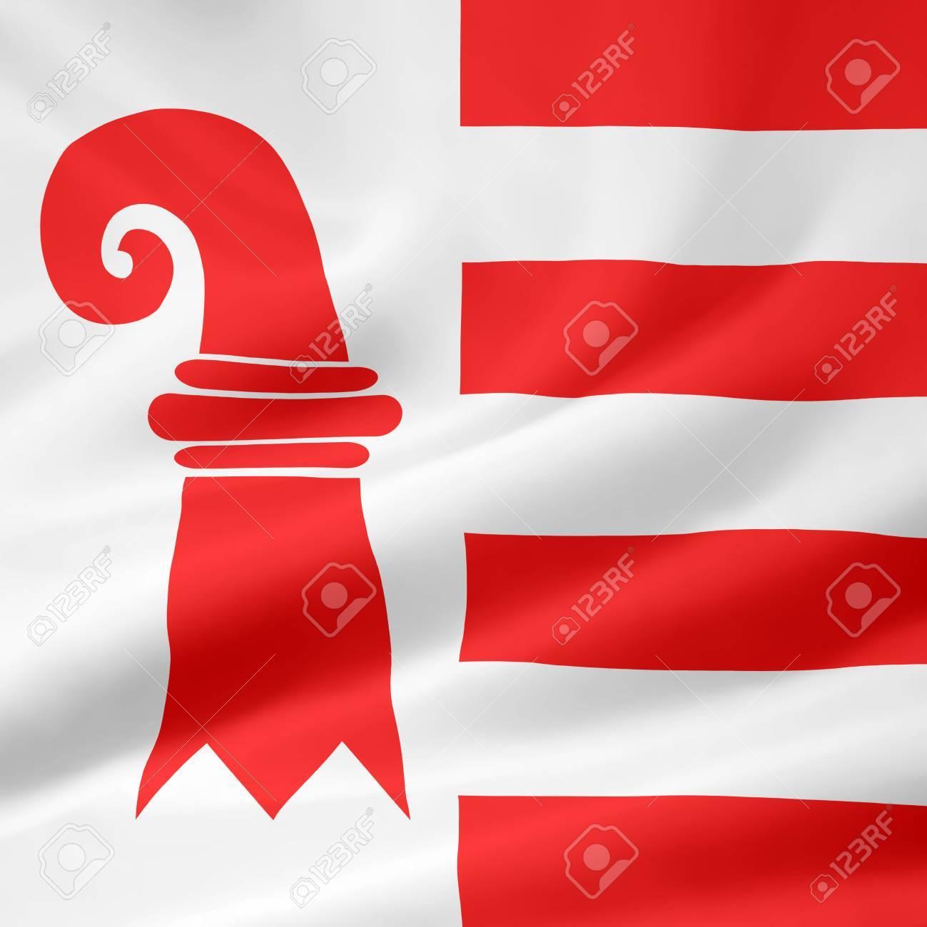 Flag of Canton Jura - Switzerland Stock Photo - 10259440