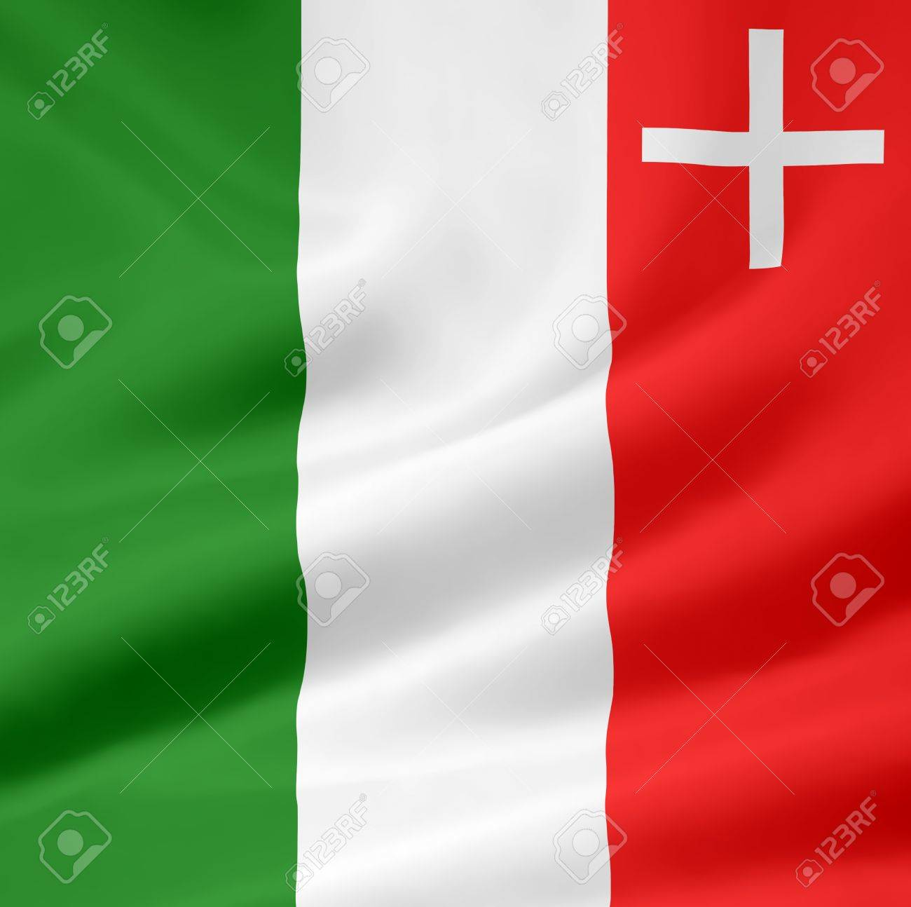 Flag of Canton Neuchatel - Switzerland Stock Photo - 10259432