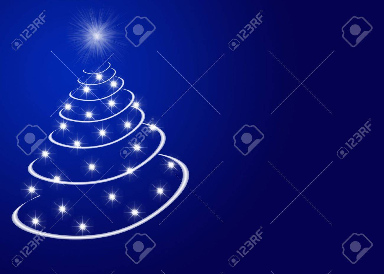 Abstract christmas tree made by stars Stock Photo - 10376520