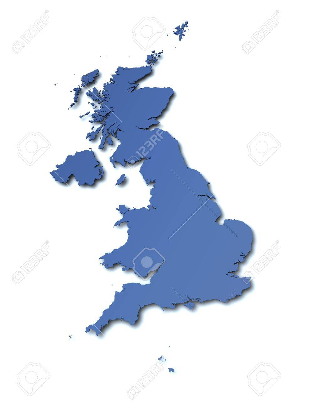 3d rendered blank map of uk stock photo picture and royalty free