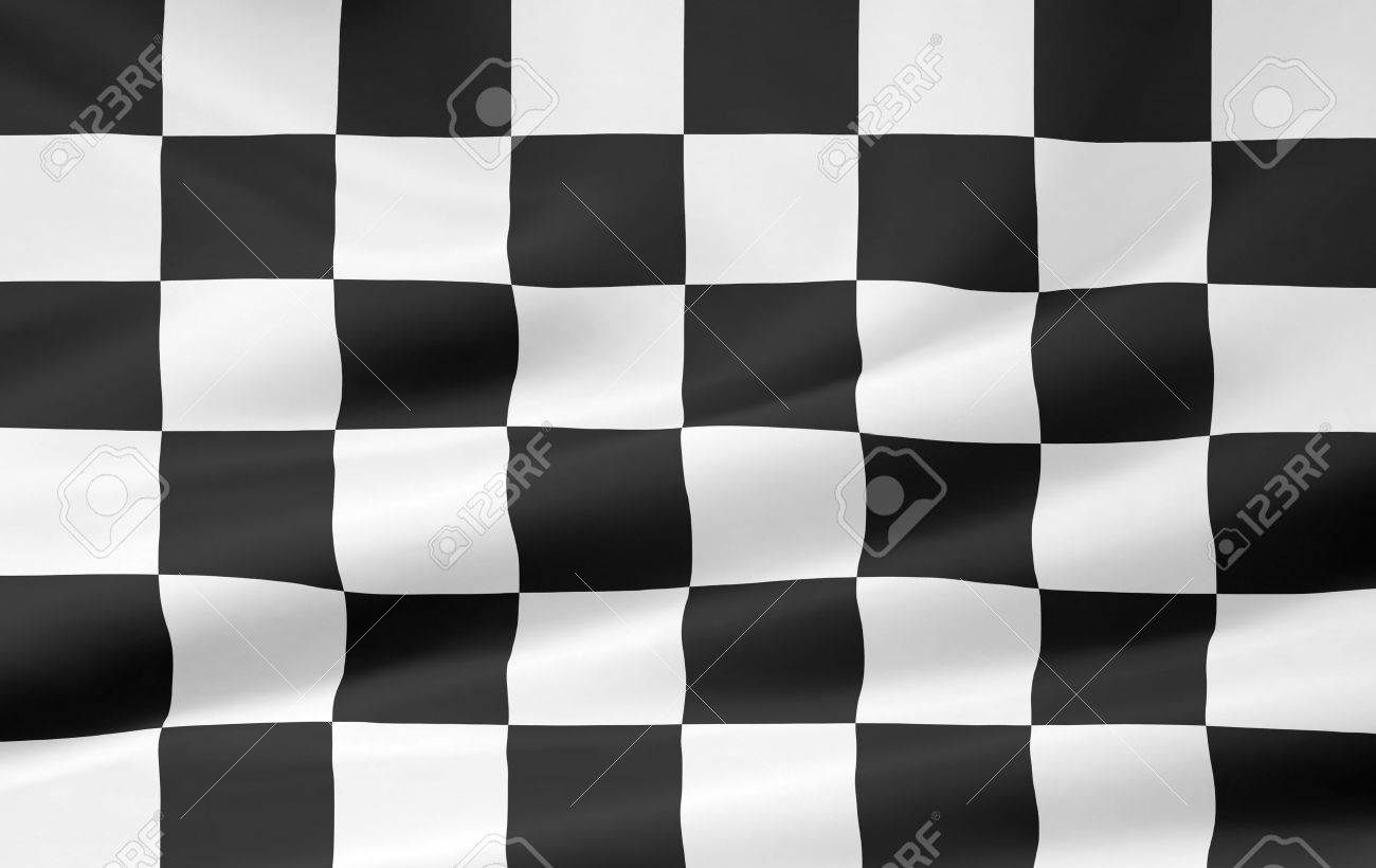 High resolution version of a checkered flag Stock Photo - 10509074