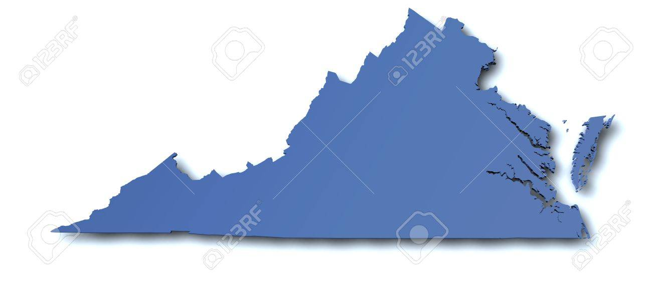 Map of Virginia - USA Stock Photo - 10725765