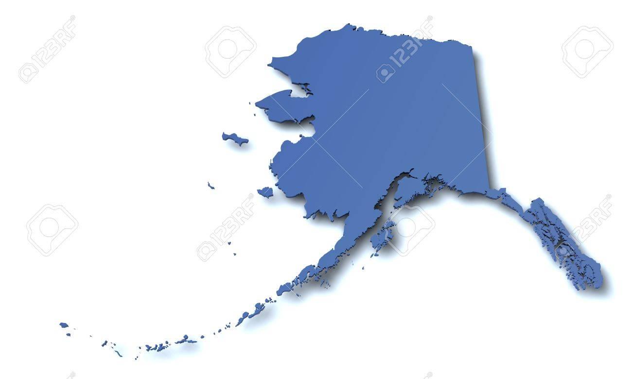 Karte Von Alaska Usa Lizenzfreie Fotos Bilder Und Stock