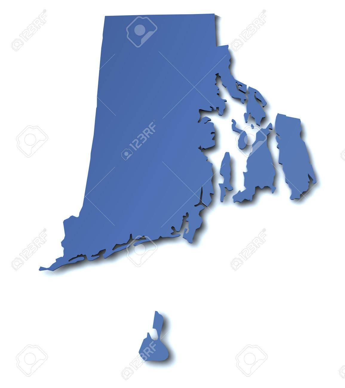 Map Of Rhode Island USA Stock Photo Picture And Royalty Free - Rhode island in usa map