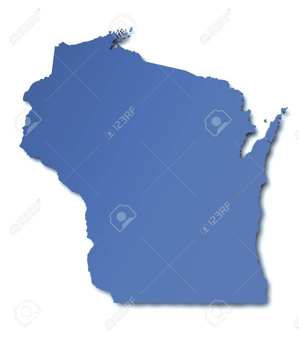 Map Of Wisconsin USA Stock Photo Picture And Royalty Free Image