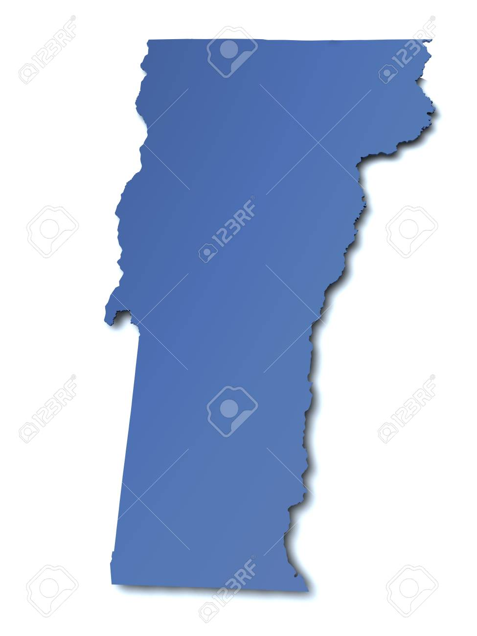 Map Of Vermont USA Stock Photo Picture And Royalty Free Image - Usa maps vermont